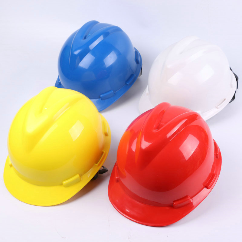 V shape Breathable Engineering construction safety helmet