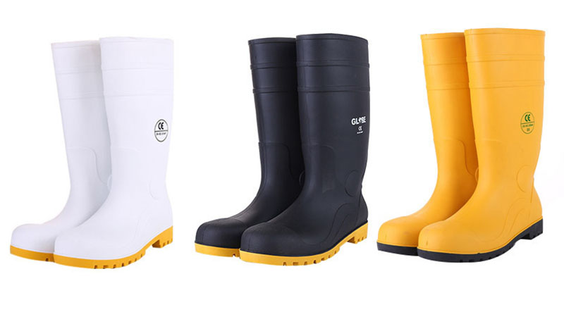 Men Pvc Rubber Wellies Work Safety Boots
