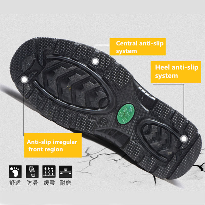 Breathable shoes safety
