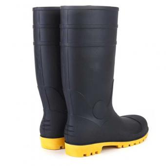 men rubber safety rain boots